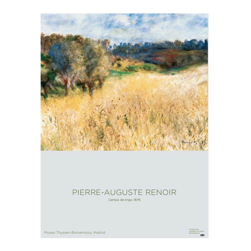 zoom Poster Wheatfield by Renoir