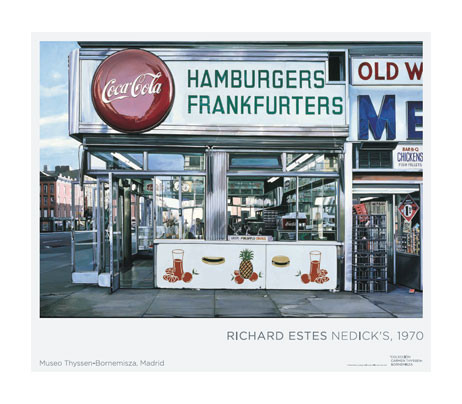 zoom Poster Richard Estes. Nedick's, 1970