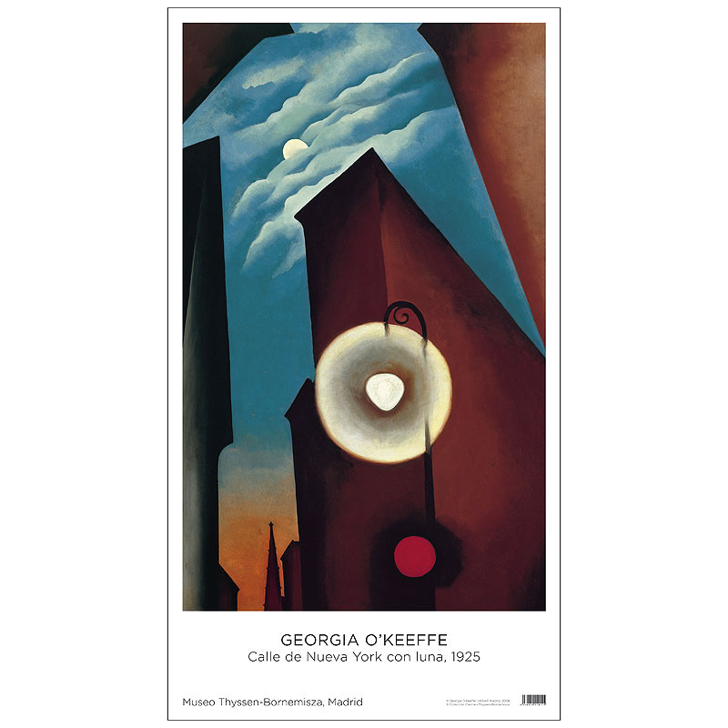 zoom Poster Georgia O'Keeffe: New York Street with Moon