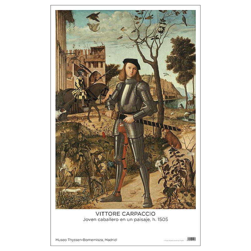 zoom Poster Carpaccio: Joven Caballero en un Paisaje