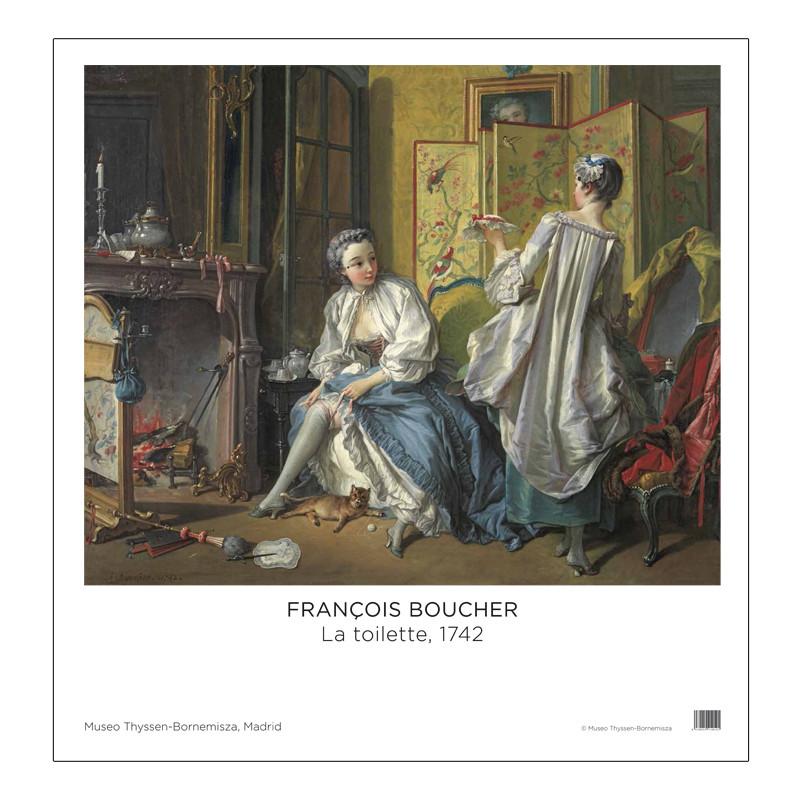 zoom Poster La Toilette by François Boucher .