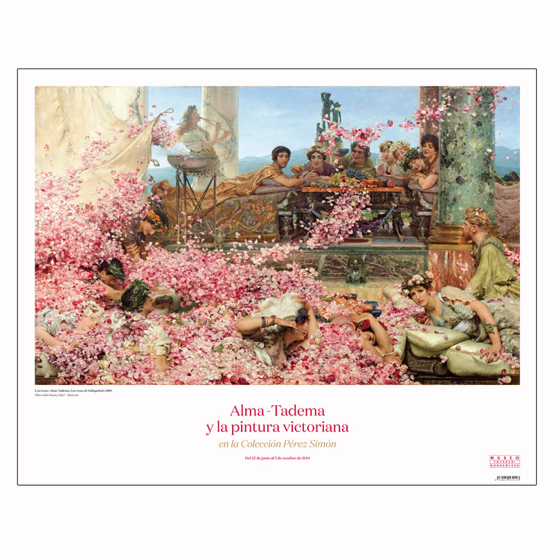 zoom Poster The Roses of Hilogabalus by Alma-Tadema