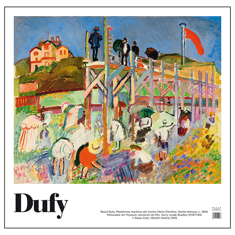 zoom Poster Raoul Dufy: Boardwalk of the Casino