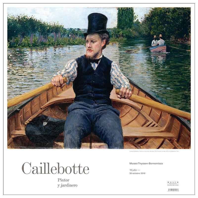zoom Poster Caillebottte: Canotier au chapeau haut de forme