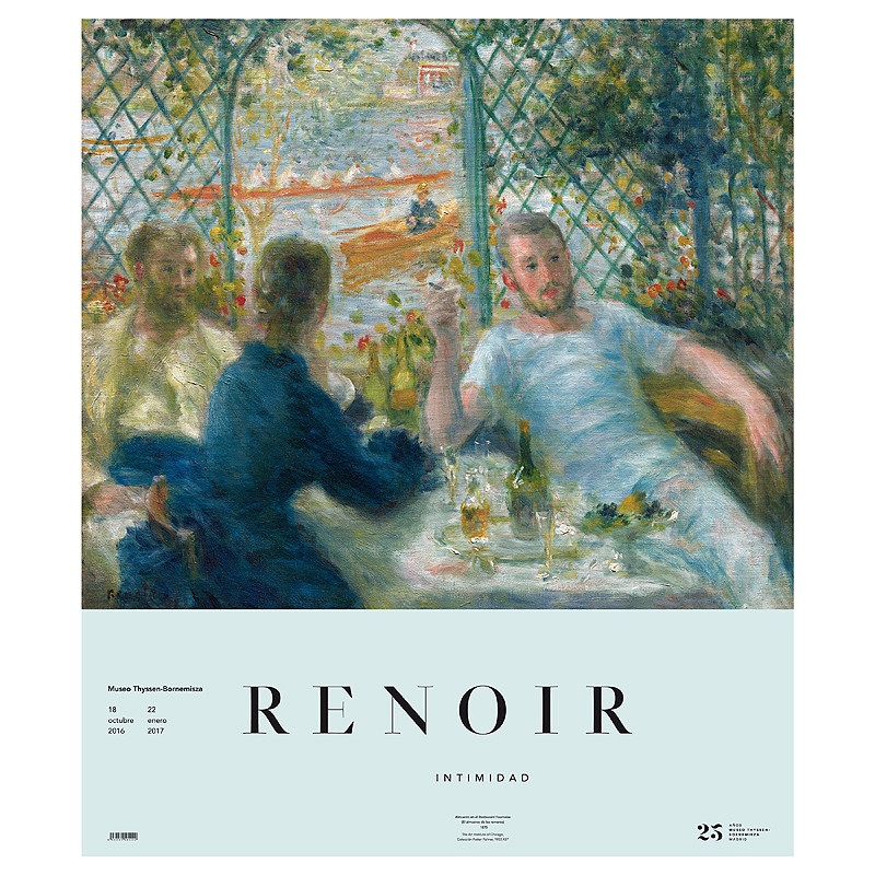 zoom Poster Renoir: Lunch at the Restaurant Fournaise (The Rowers' Lunch)