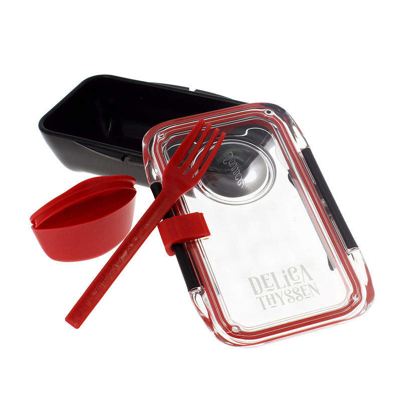 zoom Delicathyssen Black Rectangular Lunchbox