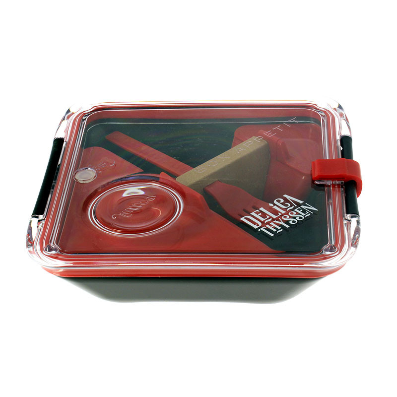 zoom Delicathyssen Black Square Lunchbox