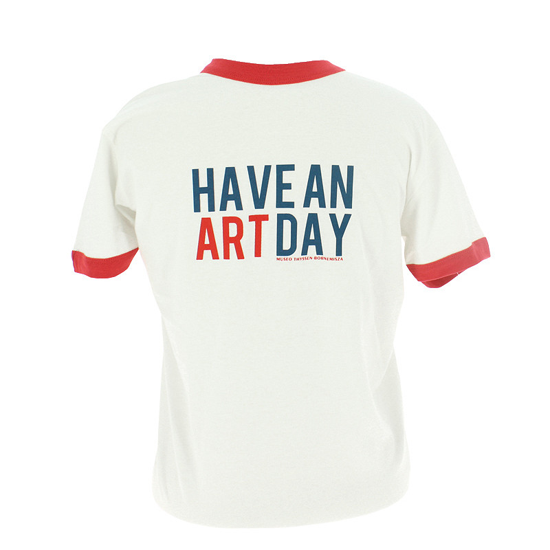 zoom White and Red Have an Art Day T-shirt