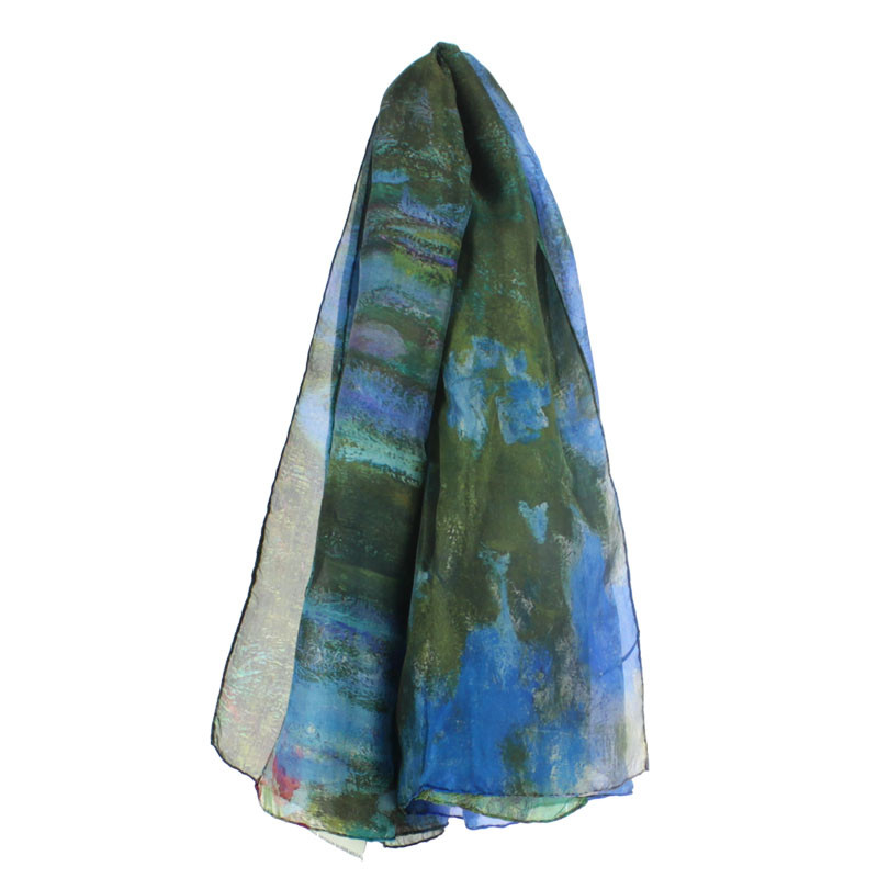 zoom Water Lilies Silk Scarf