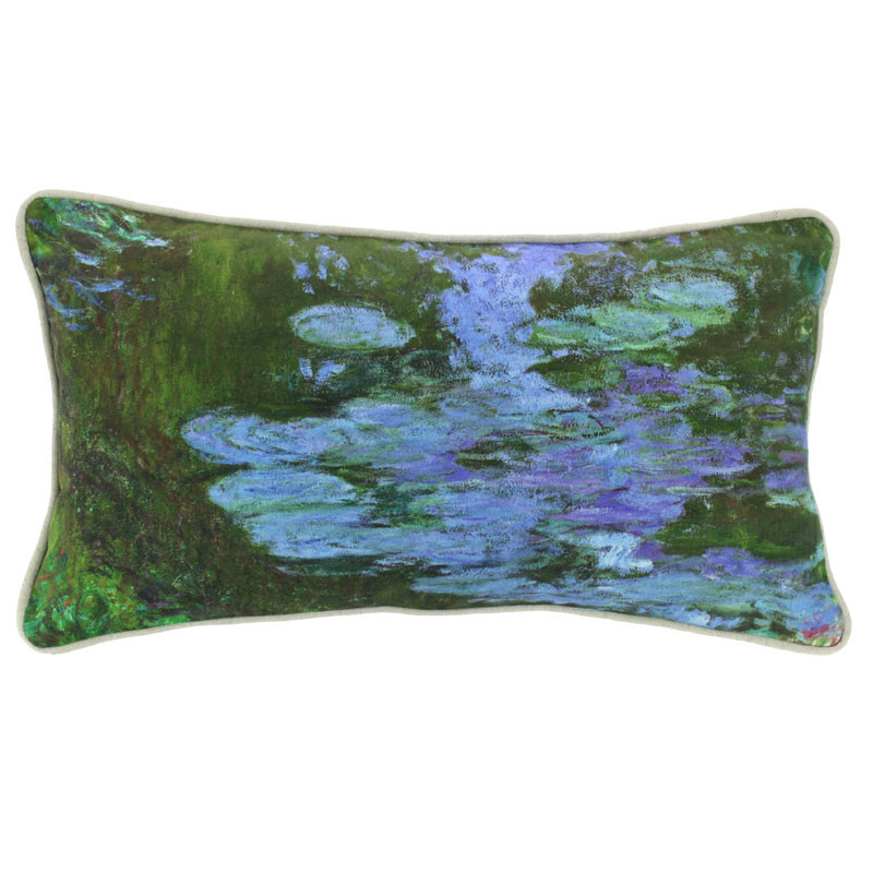 zoom Water Lilies Cushion Cover