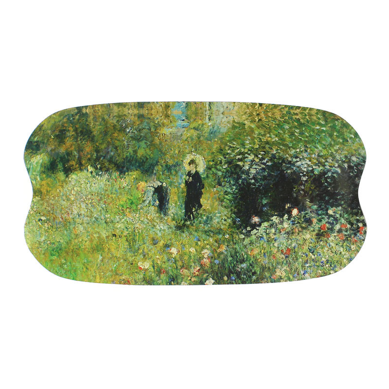zoom Tray Woman with a Parasol in a Garden by Renoir