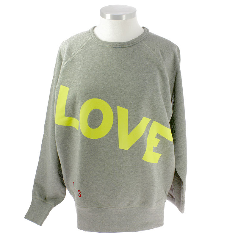 zoom Love, Love, Love Lime Sweartshirt