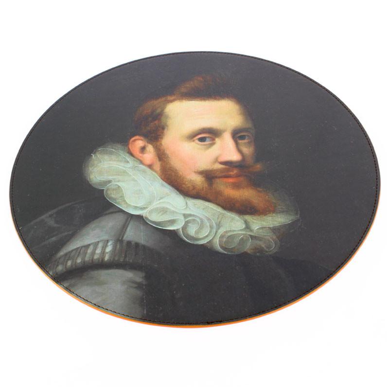 zoom Round Leatherette Placemat. Pieter Issacsz Family Portrait (Man)