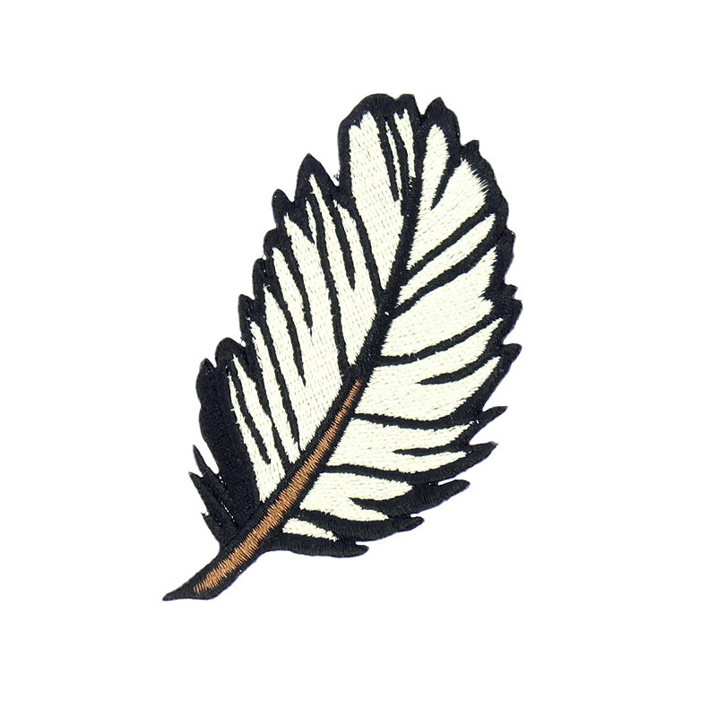 zoom Embroidery Feather Patch