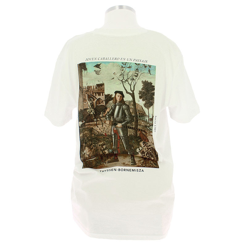zoom T-Shirt Young Knight in a Landscape by Vittore Carpaccio