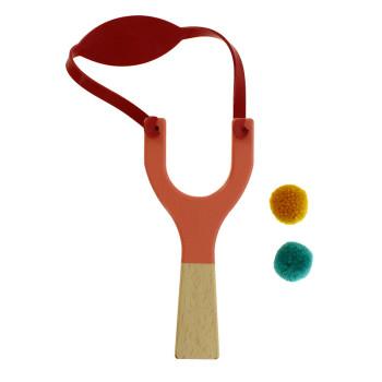 Pink wooden slingshot