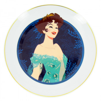 Porcelain Plate illustration Millicent