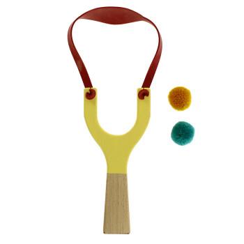 Yellow wooden slingshot