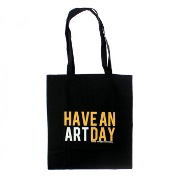 "Black ""Have An Art Day"" Tote bag"