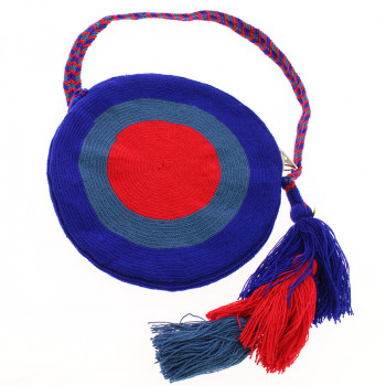 Wayuu Clutch type purse. Portuguese Woman by Delaunay. Blue variant