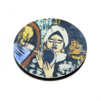 Clam Shell type Mirror: Beckmann's Woman with a Mirror