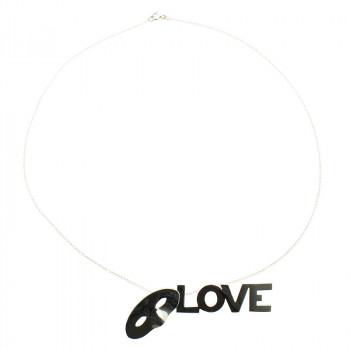Love, Love, Love Silver Pendant