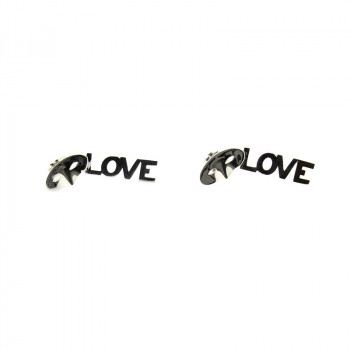 Love, Love, Love Silver Earrings