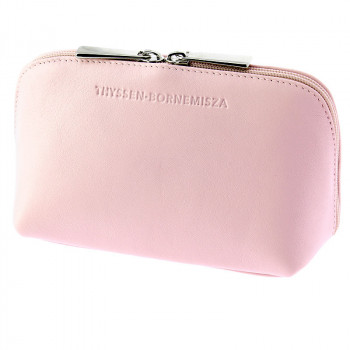 Pink leather Toiletry bag