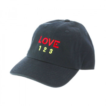 Love, Love, Love dark blue and burgundy Cap