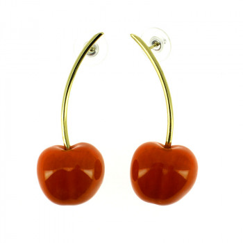 de Heem Cherry Earrings by Andrés Gallardo
