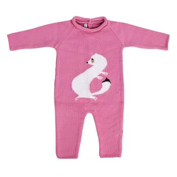 Carpaccio's ermine baby bodysuit. Pink colour.