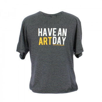 """Have An Art Day"" Striped T-Shirt"