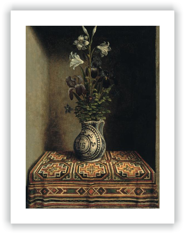 Flowers in a Jug (reverse)