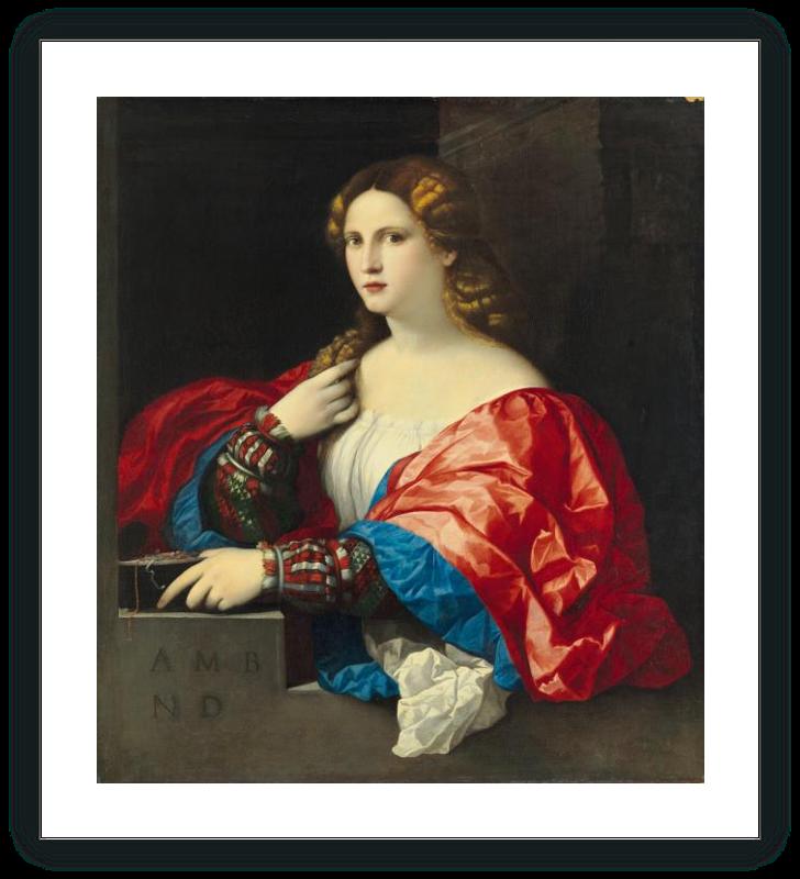 "Portrait of a young woman known as """"La Bella"""""