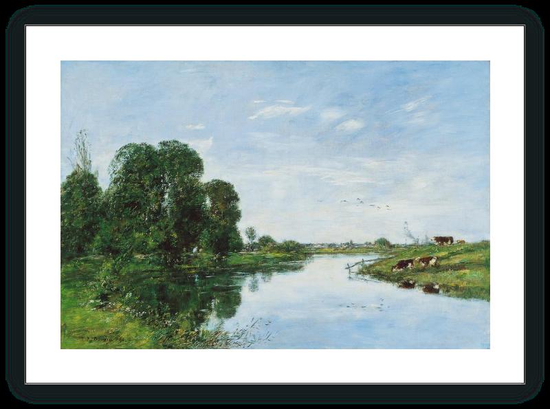 The River Touques at Saint-ArnoulT