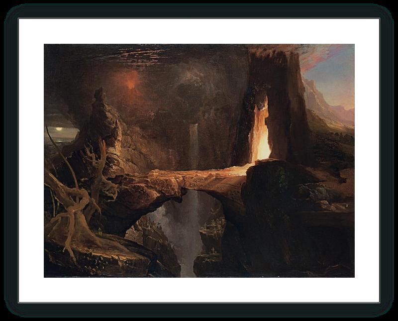 Expulsion. Moon and Firelight