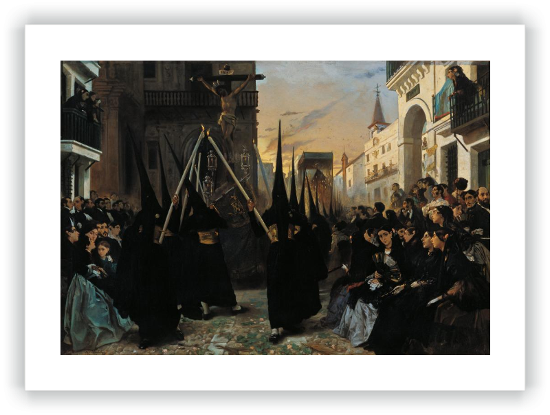A Confraternity in Procession along Calle Génova