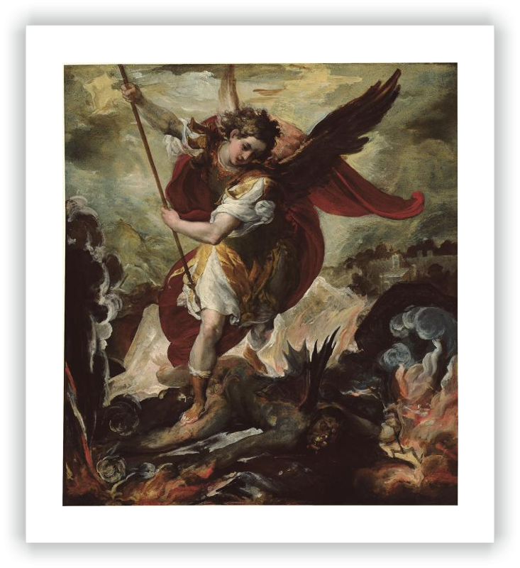 The Archangel Michael overthrowing Lucifer