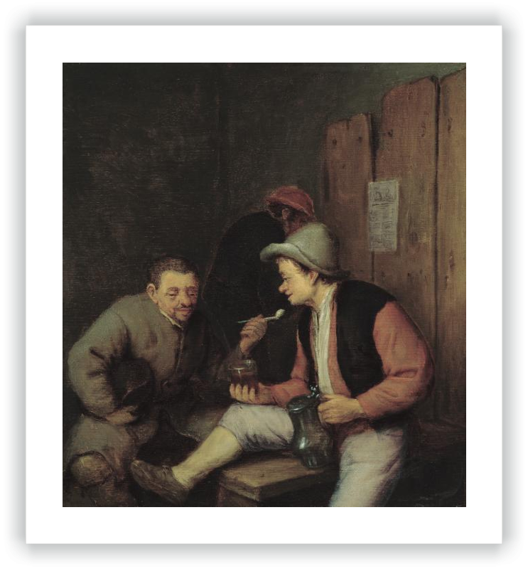 Peasants Smoking and Drinking in a Tavern