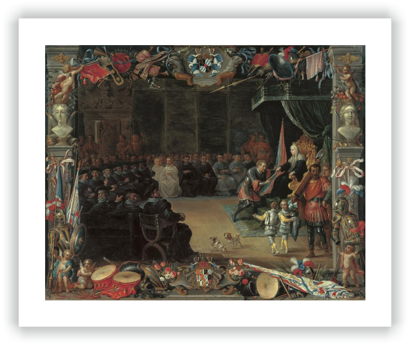 The Presentation of the Captain General's Baton to Antonio de Moncada by the Queen Regent Blanca of Sicily in 1410