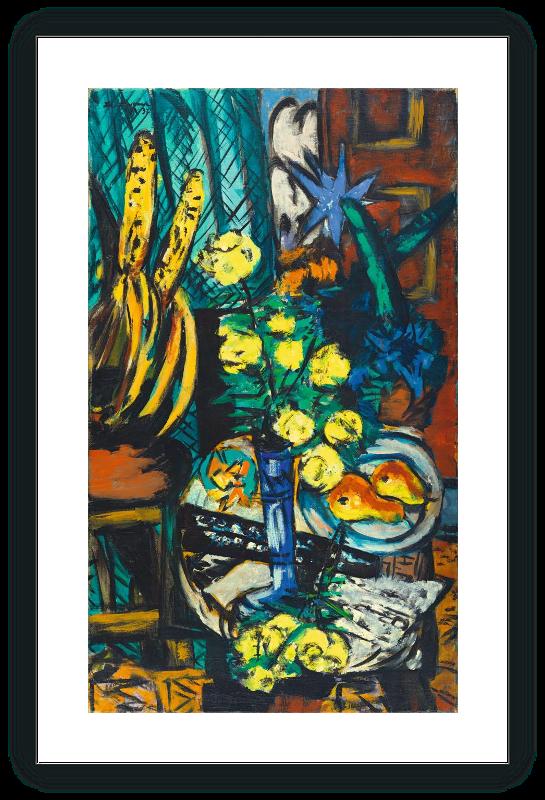 Bodegón con rosas amarillas
