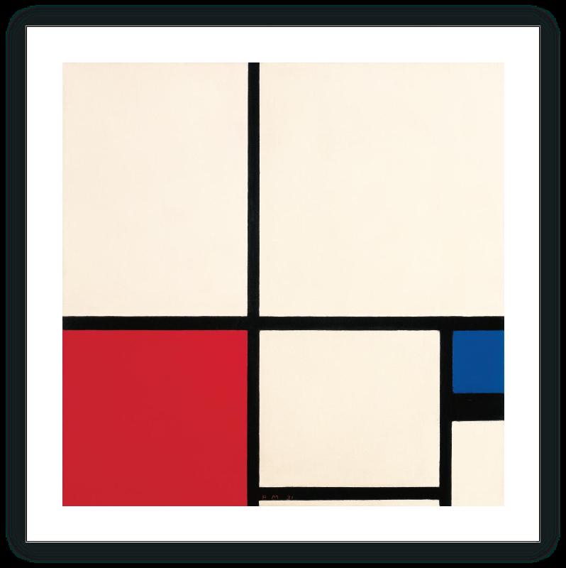 Composición de colores / Composición n.º I con rojo y azul