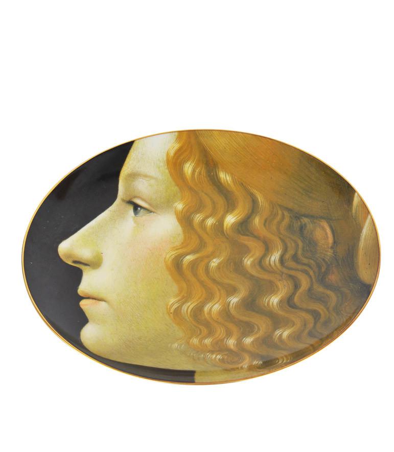 Porcelain Plate Giovanna Tornabuoni