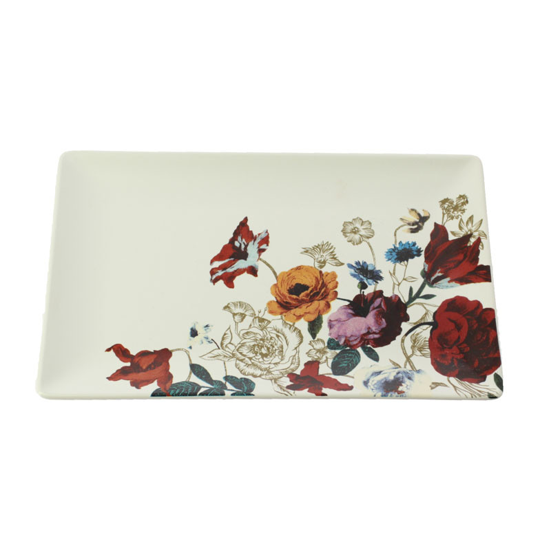Basket of Flowers Ceramic Tray. Balenciaga and Spanish Painting
