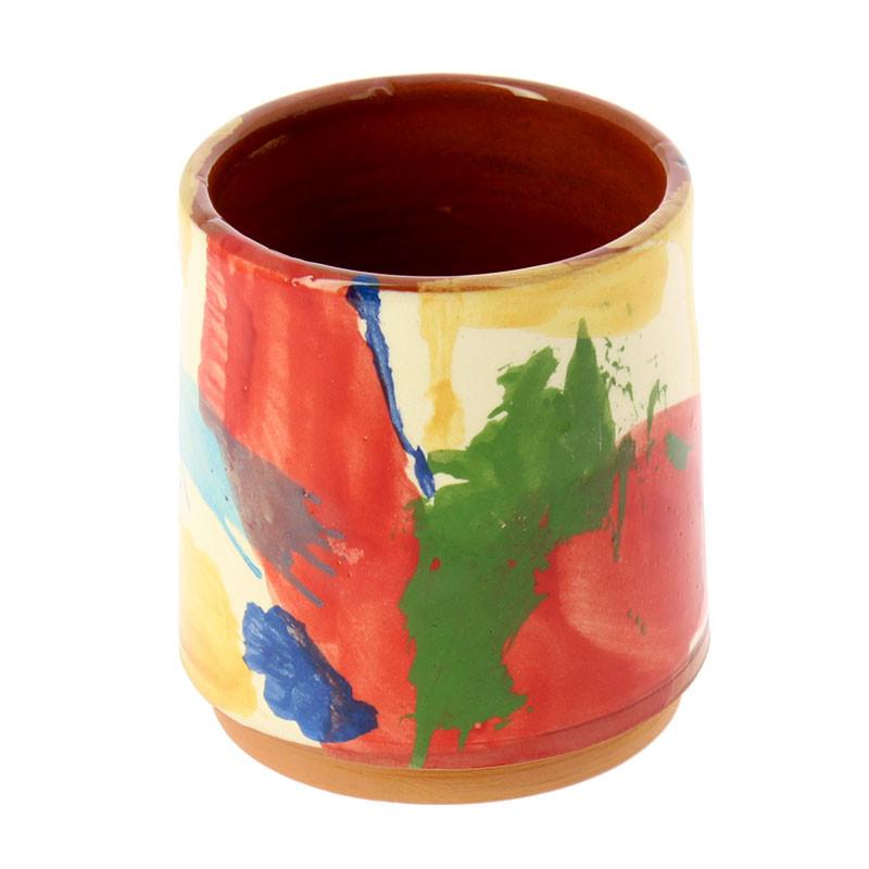 Ceramic Mug Red Man with Moustache by de Kooning