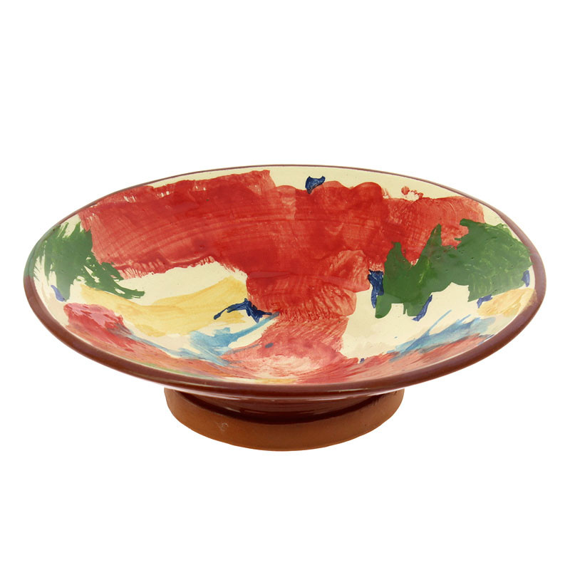 Large Bowl Red Man with Moustache by Kooning