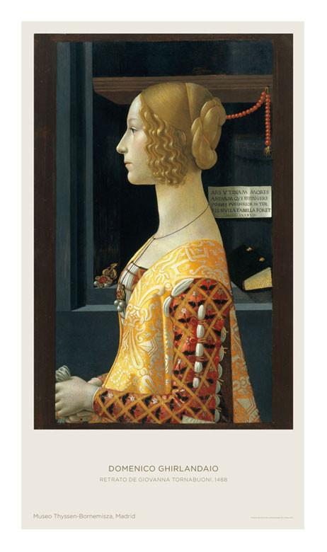Poster Domenico Ghirlandaio: Portrait of Giovanna Tornabuoni