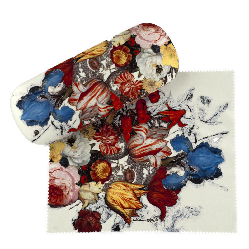 Glasses Case with cleaning cloth Flowers by van der Ast