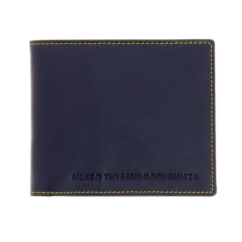 Navy blue and Yellow Wallet