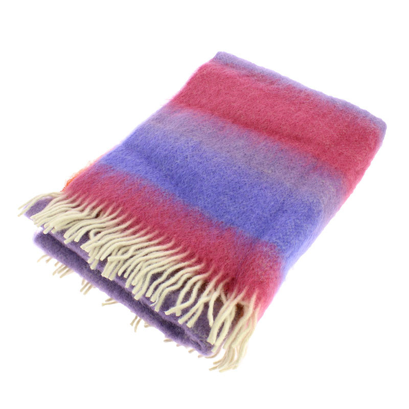 Mohair Wool Stole. Still Life with Dice